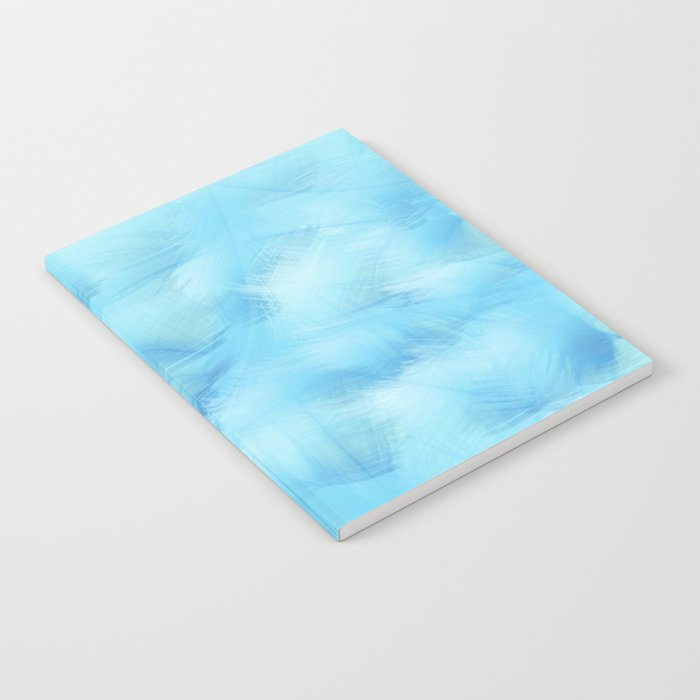 Heavenly Blue Feathers and Fluff Abstract Notebook