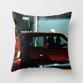Taxicab Driver (Color) Throw Pillow