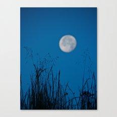 Faded Moon Canvas Print