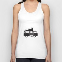 vw bus Tank Tops featuring VW bus by kirsten bingham
