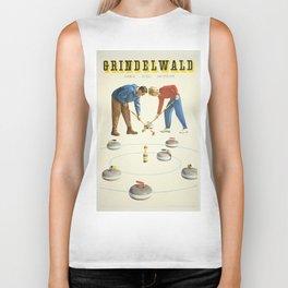 Grindelwald, Swiss Vintage Travel poster Biker Tank