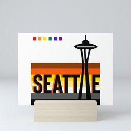 Seattle Bear Pride LGBT flag  Mini Art Print