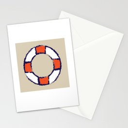 lifeguard buoy sand #nauticaldecor Stationery Cards