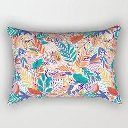 Exotic Leaves Pattern 3 Rectangular Pillow