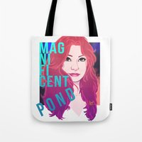 amy pond Tote Bags featuring Magnificent Pond by Franc-eh