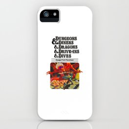 Escape from Flavortown - dungeons dragons iPhone Case