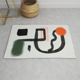 Minimal magnet, orange attraction Rug