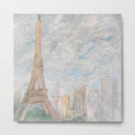Poetic Paris Metal Print