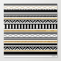 aztec Canvas Prints featuring Aztec by Kakel