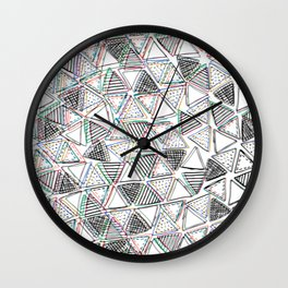 The Blurry Triangles Wall Clock
