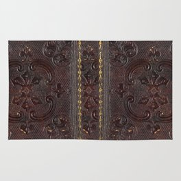 Ancient Leather Book Rug