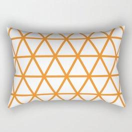 Orange Triangle Pattern 2 Rectangular Pillow