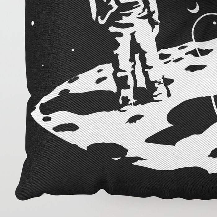 First we take Manhattan, Then we take Moon Floor Pillow by 7115 ...