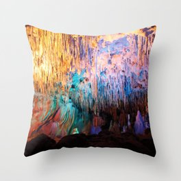 Rainbow Cavern Throw Pillow
