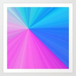 Pink & Aquamarine Rays Art Print