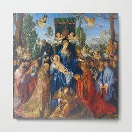 Albrecht Durer's Feast of the Rosary Metal Print