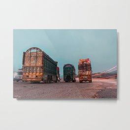 Trucks of Pakistan Metal Print