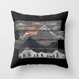 Into the Grey... Throw Pillow