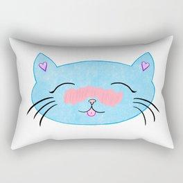 Blushing Cat Rectangular Pillow