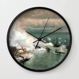 Battle Of Mobile Bay -- Civil War Wall Clock