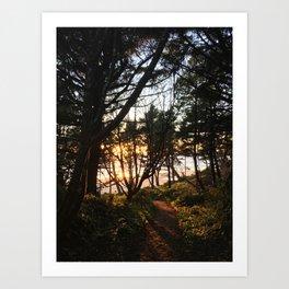 Otter Rock Sunset Art Print