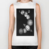 solar system Biker Tanks featuring the solar system by GalaxyDreams