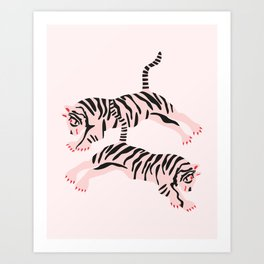 fierce females Art Print