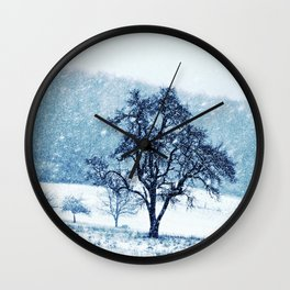 Old pear tree (cool edition) Wall Clock