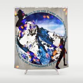 Nina and Matthias - Overwhelm Me Shower Curtain