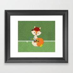 Tennis fox Framed Art Print