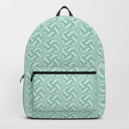Celtic Knot Pattern in Green Backpack