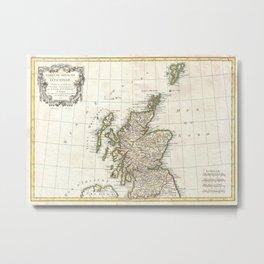 Vintage Map of Scotland (1772) Metal Print