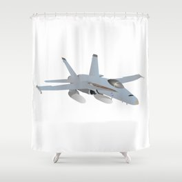 American F-18 Jet Fighter Shower Curtain