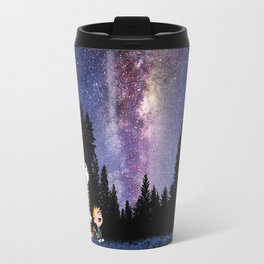 calvin and hobbes in the night large Travel Mug