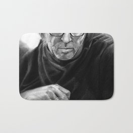 Eric Clapton PENCIL DRAWING Bath Mat