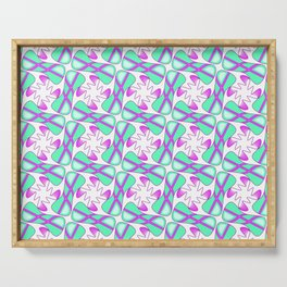 Cool Mint Kiss Bubble Gum Pink Simple Abstract Mint Candy Spirit Organic Serving Tray