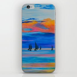 I'd Rather Be Sailing by Teresa Thompson iPhone Skin
