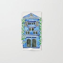 Tropical Blue House Hand & Bath Towel