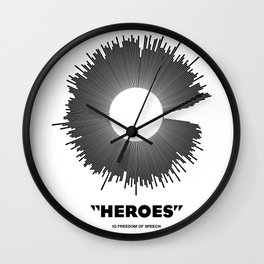 Bowie - Heroes Mono Soundwave Wall Clock