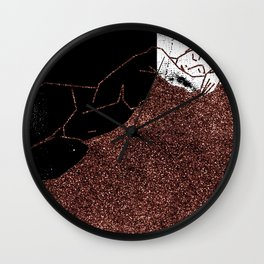 Pink Glitter Nude One Line Wall Clock