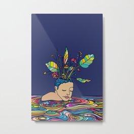 Spring Head Metal Print