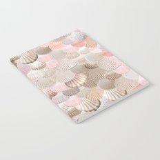 MERMAID SHELLS - CORAL ROSEGOLD Notebook