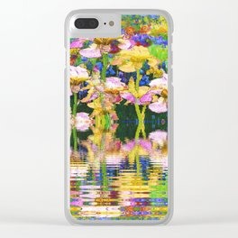 YELLOW IRIS WATER GARDEN REFLECTIONS Clear iPhone Case