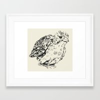 sparrow Framed Art Prints featuring sparrow by dace k