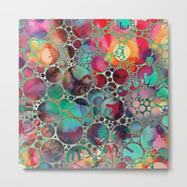 Dots on Painted Background 6 Metal Print