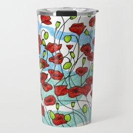 Field Poppies Travel Mug