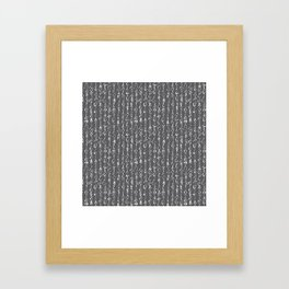 Ancient Japanese Calligraphy // Charcoal Framed Art Print