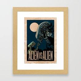 ALIEN VS ALIEN Framed Art Print