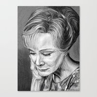 jessica lange Canvas Prints featuring Jessica Lange by The Dark Art of Dawn