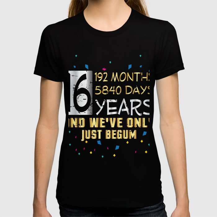 Happy Marriage 16 Years Wedding Anniversary T Shirt